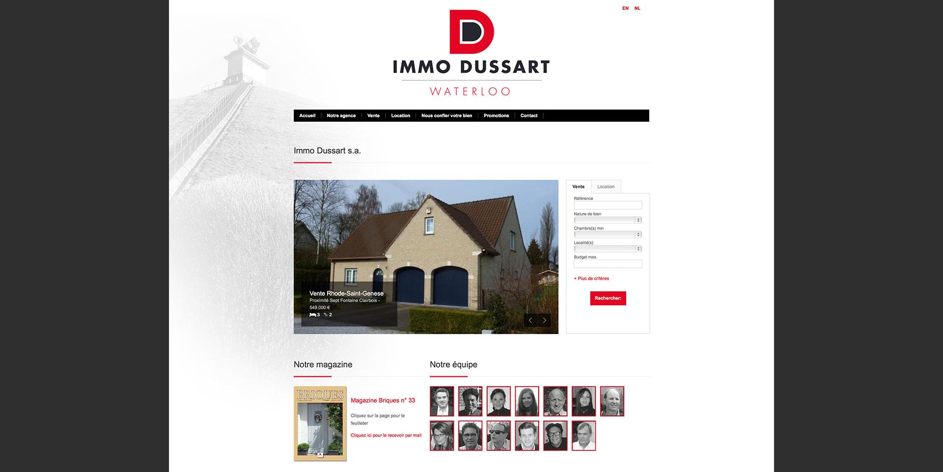 site internet dussart